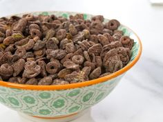 Get Trisha Yearwood's Chocolate-Covered Cereal Mix with Dried Cherries and Pistachios Recipe from Food Network