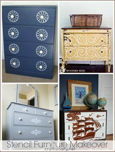 stencil furniture makeovers