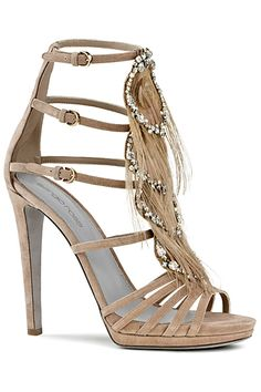 169b3346a43 Sergio Rossi Jewel and Feather strappy Sandal 2010 Fall-Winter  Heels   Shoes