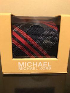 Michael Kors Men's Tie Silk Tie Navy Blue With White and Red Necktie NEW In Box #MichaelKors #Necktie