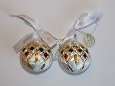 #Waterford Holiday Heirloom Lismore Ice Discs Set of 2 #Christmas #Ornament Glass