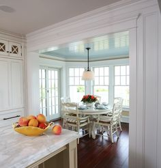 Considering a colored ceiling in nook - NOT so glossy. Beach House Kitchens - traditional - kitchen - philadelphia - Asher Associates Architects