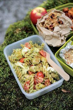 Pasta salad with chicken pesto and mozzarella - courtesy of countryfile.com