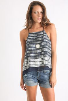 Matison Stone Simone Layered Flyaway Back Tank Top | South Moon Under