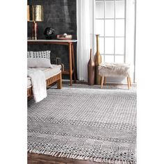 Rugs USA Gray Chembra Block Printed Cotton Flatweave Varied Bands rug - Contemporary Rectangle x Rugs In Living Room, Living Room Decor, Living Spaces, Dining Rooms, Bedroom Decor, Home Modern, Modern Colonial, Buy Rugs, Rugs Usa