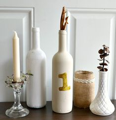 15 Creative and Useful DIY Ideas with Bottles - Wine Bottle Table Numbers