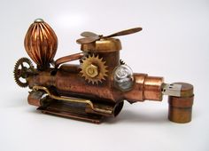 Steampunk Air Transporter flash drive. Steampunk usb por slotzkin