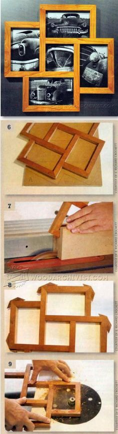 Five Photo Frame Plans - Woodworking Plans and Projects   WoodArchivist.com