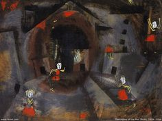 Artistic Wallpaper: Paul Klee - Danceplay of the Red Skirts