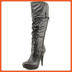 f7b60e5766c4 G by Guess Womens DREA Wide Calf Pointed Toe Fashion Boots