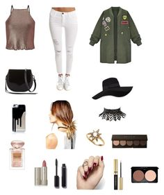 """Untitled #231"" by azharkrymova-1 on Polyvore featuring Miss Selfridge, Frame Denim, WithChic, Rebecca Minkoff, San Diego Hat Co., Boohoo, Amrita Singh, Anzie, Giorgio Armani and Ilia"