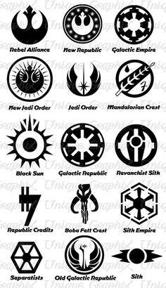 Adesivo decalcomania di Star Wars simbolo vinile