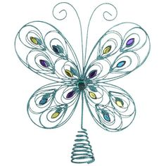 Start a new tradition with the Pier 1 Butterfly Jewel Tree Topper