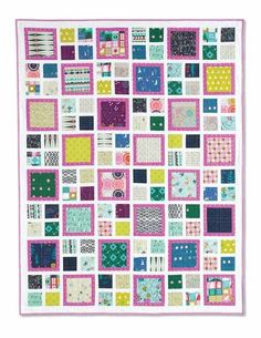 Lots of Boxes Quilt Kit: The kit for this easy quilt design features fun prints from a variety of fabric collections by Cotton+Steel designers.