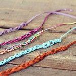 Easy Finger-Crochet Bracelets via lilblueboo.com