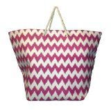 Giant! Huge! Chevron Print Straw Look Beach Bag Tote - 30