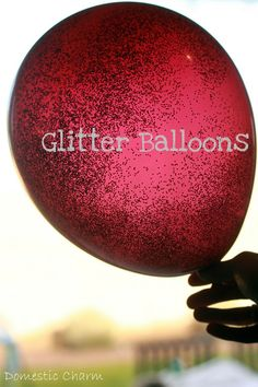 Easy DIY Glitter Balloons ~ add a glow stick to make it light-up.