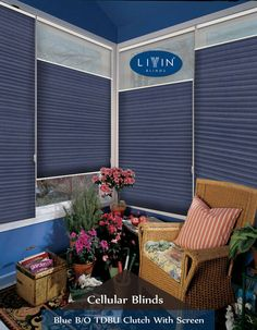 These Blue coloured maintaining the cosiness of this space is a cordless windo. Outdoor Chairs, Outdoor Furniture Sets, Outdoor Decor, Blinds For Windows, Window Blinds, Cellular Blinds, Shades Blinds, Window Treatments, Room Decor