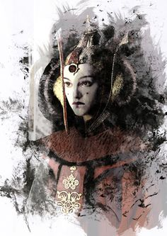 Padmé Amidala ink smudge effect who knows me knows I'm pretty in love with Star Wars :D