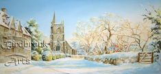 St Marys in the Snow, Purton by well-known artist Catherine Pier