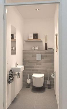 Beautiful bathroom ideas that are decor. Modern Farmhouse, Rustic Modern, Classic, light and airy bathroom design ideas. Bathroom makeover ideas and bathroom remodel ideas. Modern Bathroom Design, Bathroom Interior Design, Bathroom Designs, Modern Design, Bad Styling, Small Toilet, Guest Toilet, Bathroom Renovations, Bathroom Ideas
