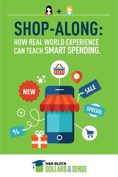 Teach smart spending through real-world experience. Here's how teens can benefit from tagging along when adults go shopping: http://www.hrblockdollarsandsense.com/ideas-info-for/parents/how-real-world-experience-can-teach-smart-spending/