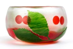 Paul Hoff Kosta Watermelon, Glass Art, Fruit, Jar Art