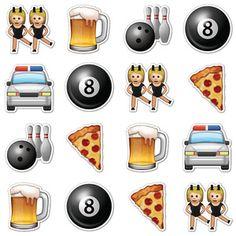 Night Out Emojis, $16, by Emoji Stickers !!
