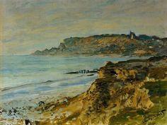 Claude Monet - La Falaise à Sainte-Adresse