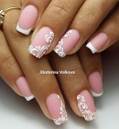 Hey there lovers of nail art! In this post we are going to share with you some Magnificent Nail Art Designs that are going to catch your eye and that you will want to copy for sure. Nail art is gaining more… Read Classy Nail Designs, Simple Nail Art Designs, Nail Polish Designs, Easy Nail Art, Classy Nails, Simple Nails, Cute Nails, Bride Nails, Wedding Nails