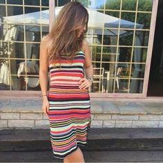 NWT ZARA Multicolored Crochet Dress Summer Knit SIZE  M Ref.9598/005 #ZARA #Sundress #Casual