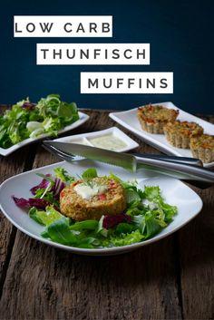 Super leckere low carb Thunfisch Muffins mit Honig-Senf Dip