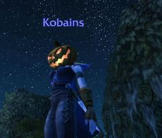 Symphonicats takes a ride back to WotLK! ~ Her pumpkin head from Halloween, which seems to light up the sky brighter than the stars... #worldofwarcraft #warcraft #blogging