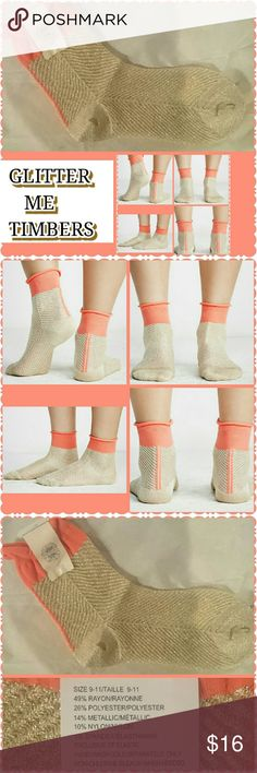 GLITTER ME TIMBERS SOCKS Be Impressive Coming and Going,   Start with Socks Add to Flats. Heels,  Booties or Sandals. Or Sure Sneakers Too. Ready or Not S H I N E Accessories Hosiery & Socks
