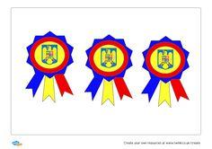 Cocardă tricoloră cu stema țării fără coroana de oțel... 1 Decembrie, Create Yourself, Create Your Own, Romania, Logos, Art, Art Background, Logo, Kunst