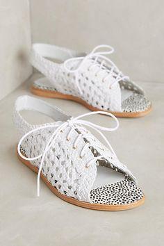Miista Raina Basketweave Flat Sandals