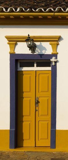 Tiradentes - MG- Brasil blue and gold doorway