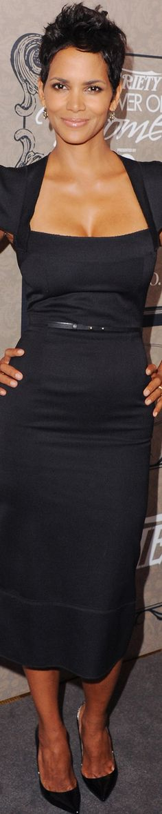 Halle Berry in 2012 at Variety Power of Women Event in Roland Mouret