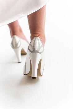 c34a2e20e9615 Kourtney - Ivory Satin & Shimmer Court Shoe. Rainbow Wedding ...