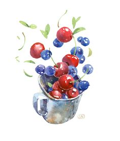 my summer inspiration by Natalia Tyulkina, via Behance #food #watercolor #foodwatercolor