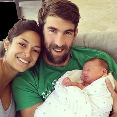 Michael Phelps welcomes son