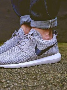 Wolf Grey Nike Roshe Fly Knit   Raddest Men's Fashion Looks On The Internet: www.raddestlooks.org