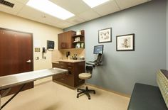 Cleveland Road Animal Hospital and The Pet Hotel, Wooster, Ohio - 2014 #Veterinary Economics Hospital Design Supplement - Exam room with drop-down table - dvm360