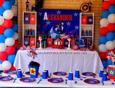 "Captain America  / Birthday ""Captain Alexander "" | Catch My Party"