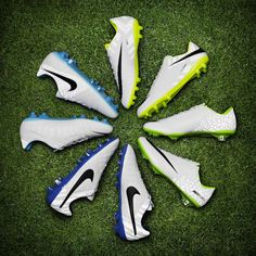 New from #Nike #Soccer - a reflective Flash Pack including Mercurial, Hypervenom, CTR360 and the new Tiempo.