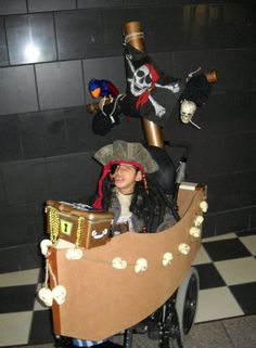 I will have to see if we can make this for our son we already have the Captain Hook costume. Pirate wheelchair costume !