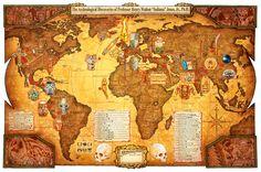 Indiana Jones World Map
