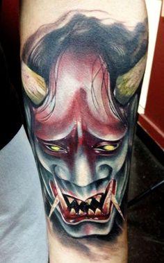 Japanese Death Mask Tattoo Death mask tattoo image   Japanese ...