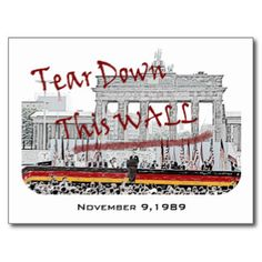 Fall of the Berlin Wall Anniversary Post Cards