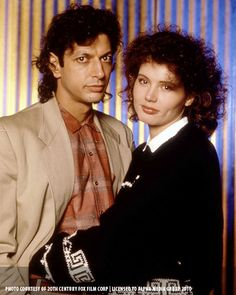 jeff goldblum & geena davis from  the fly